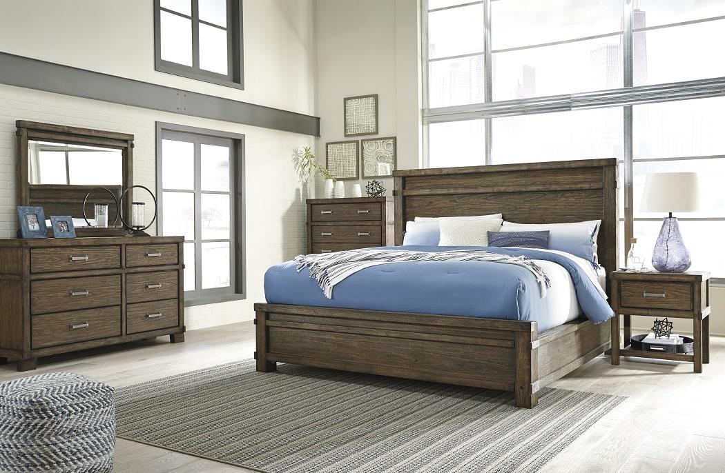 queen size master bedroom 4pc set dark brown wood textured ebay