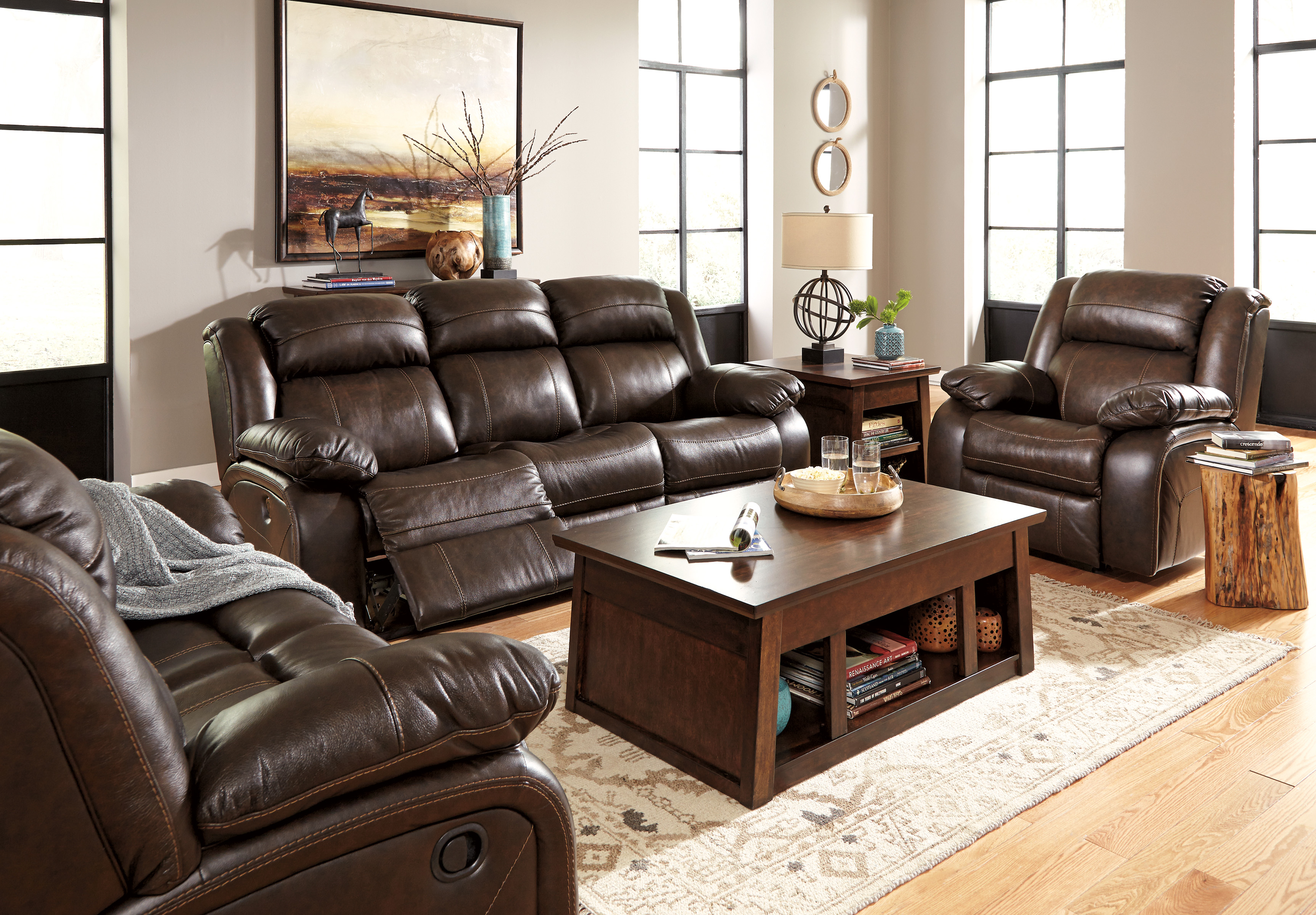 3pc sofa set ashley living room furniture hot sectionals for Motion living room furniture