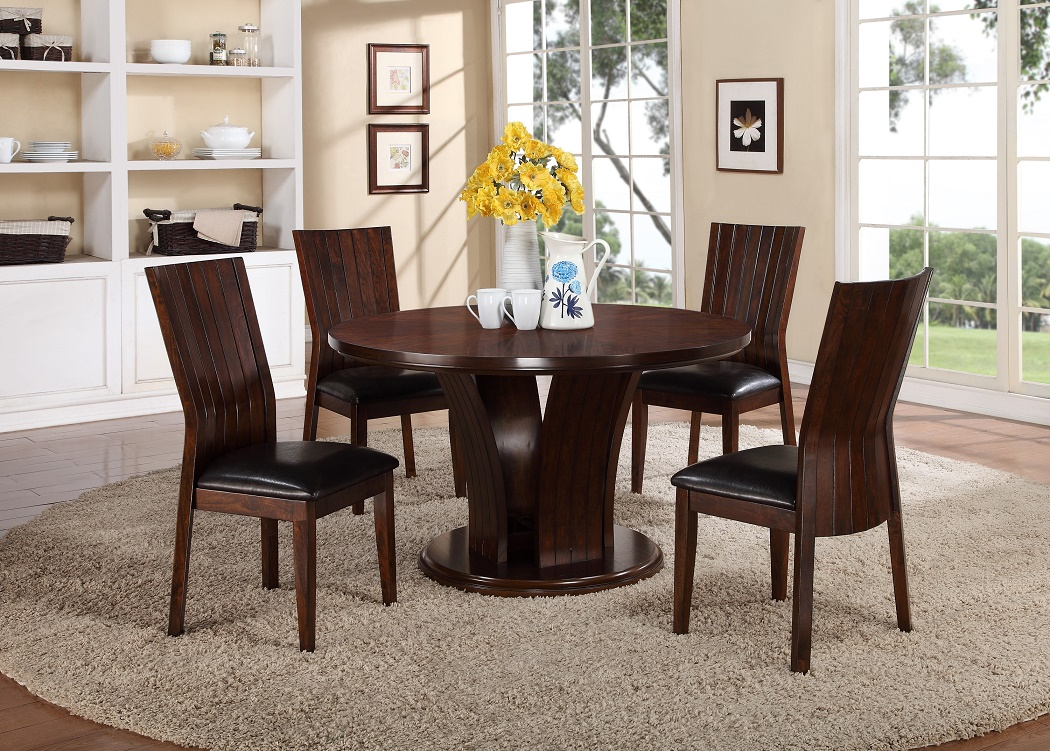 Casual 9pc Dining Room Table w/9 Side Faux Leather Uph Chairs Seat ...