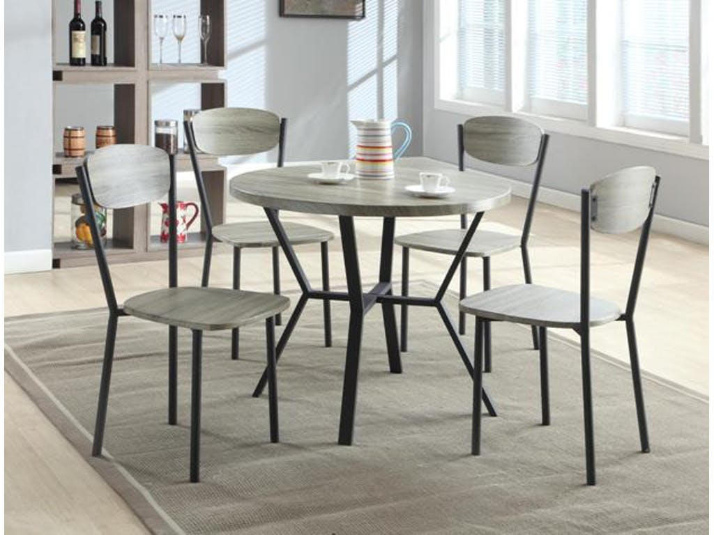 5pc Dining Table W 4 Slat Seat Side Chairs Hot Sectionals