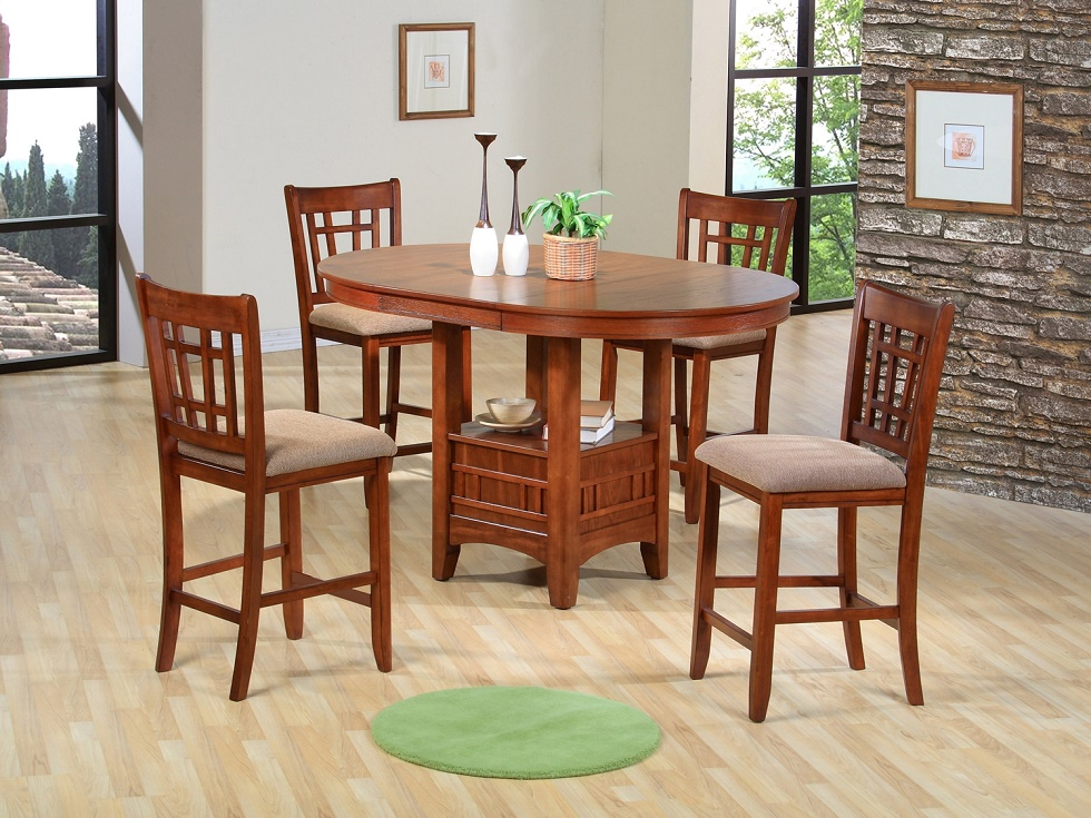5pc Couter Height Table 4 Chairs Cushion Hot Sectionals
