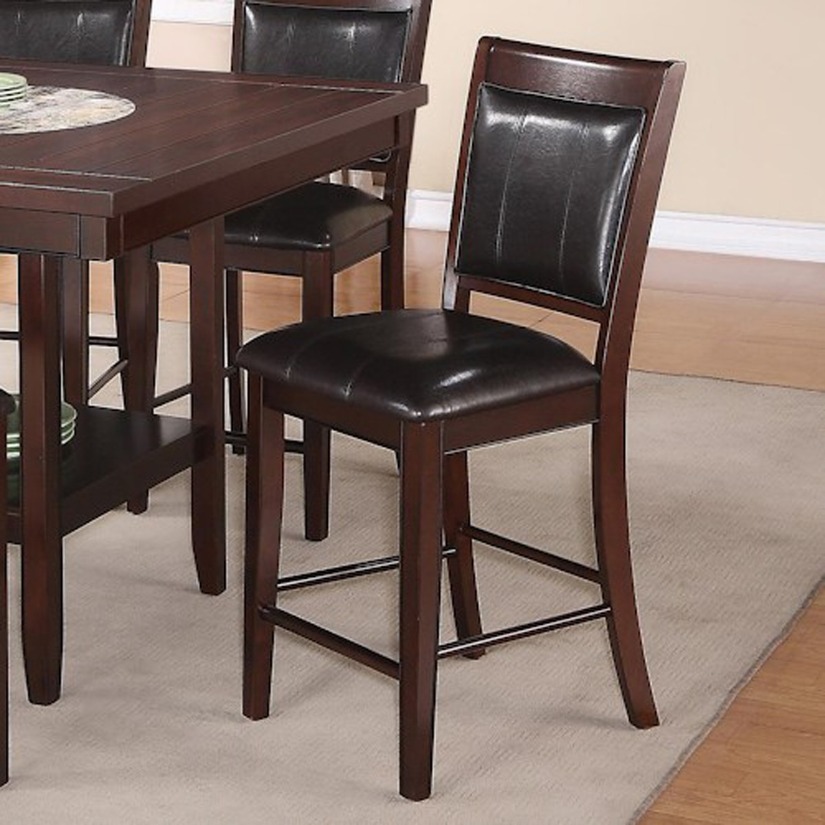 6pc Couter Height Table 4 Chairs Bench Uph Hot Sectionals