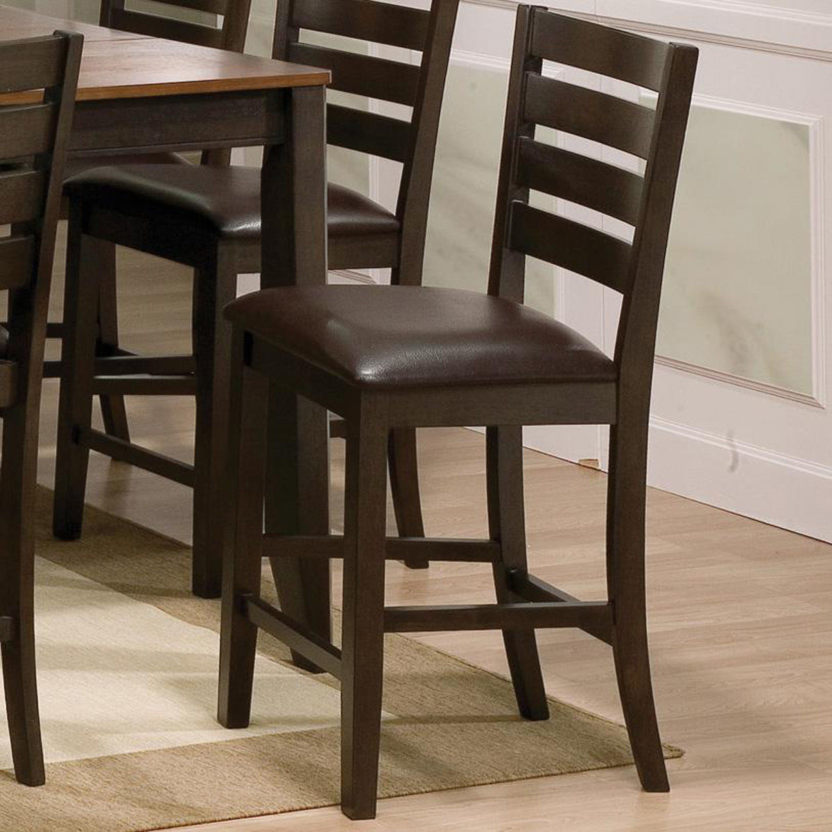 Bar Table Chairs Set Crown Mark Alyssa 3 Piece Bar Table: 8pc Couter Height Table 6 Chairs Bench Uph