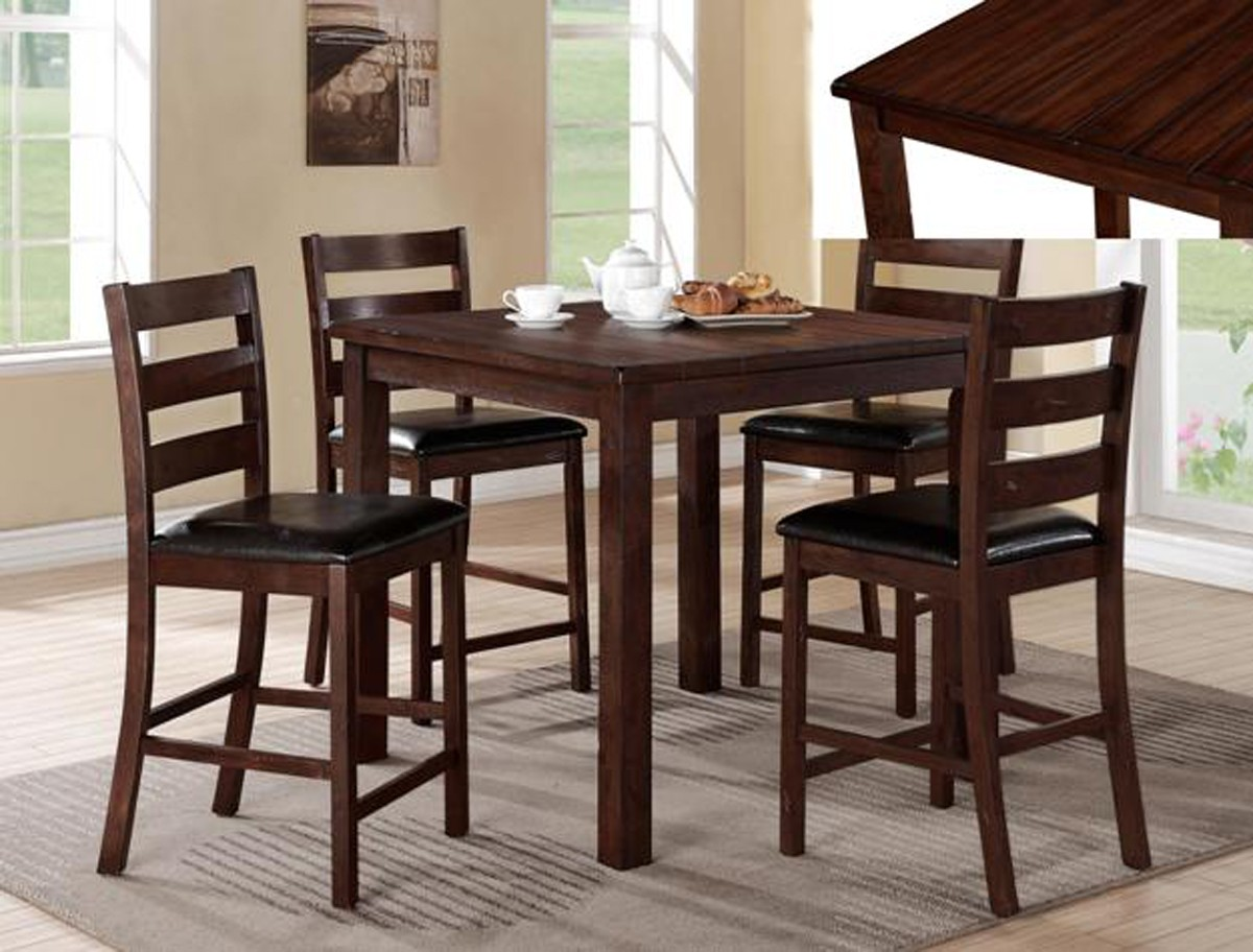 5pc Counter Height Table 4 Chairs Uph Seat Hot Sectionals