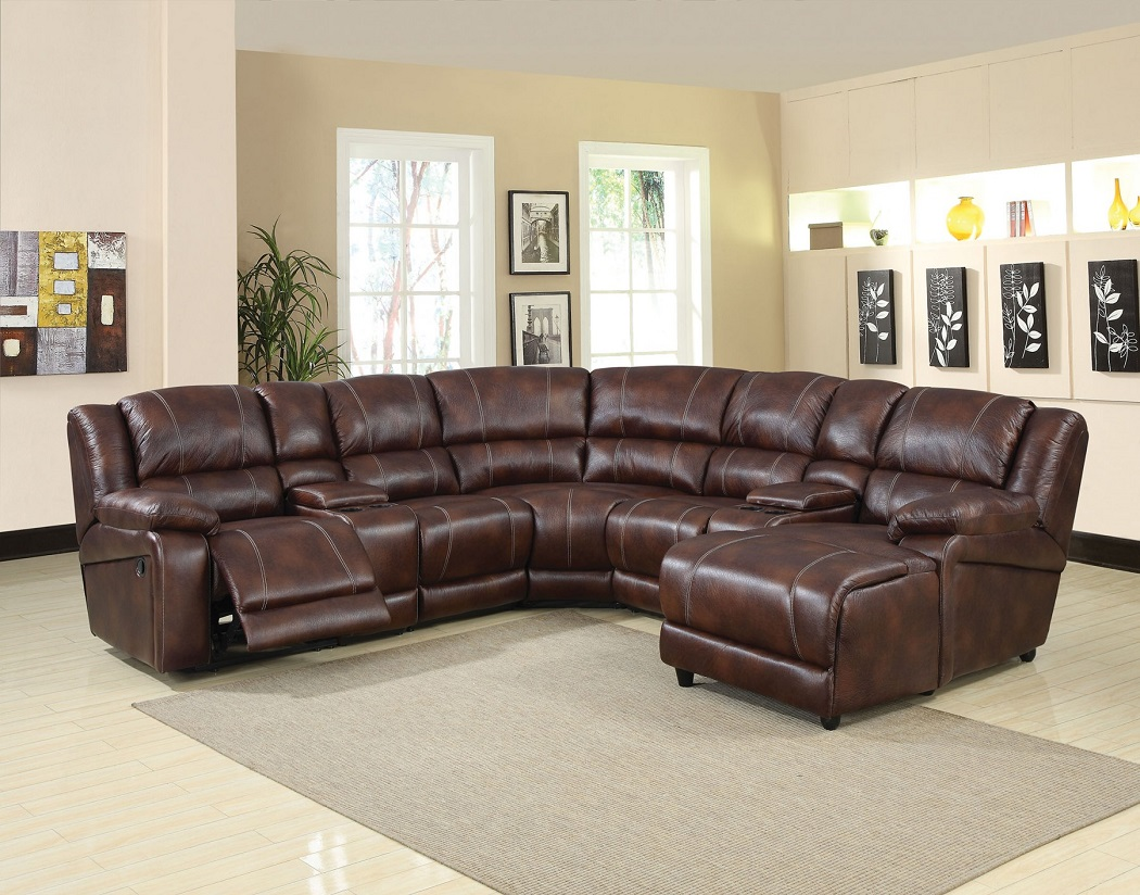 7pc Reclining Sectional Sofa Set Living Room Hot Sectionals