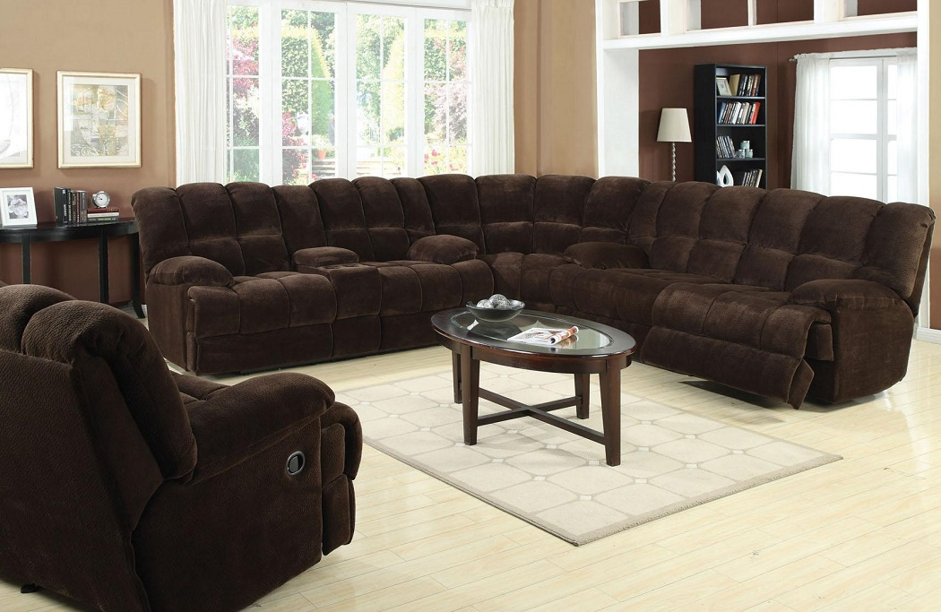 Modern 4pc Chocolate Sectional Sofa Set Hot Sectionals