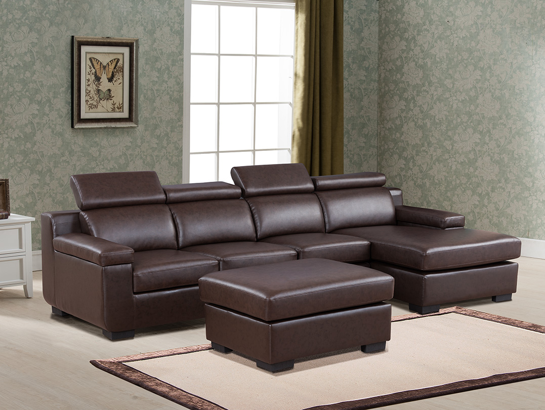 Coffee Color Living Room Home Furniture 4pc Sectional Sofa Set Contemporary