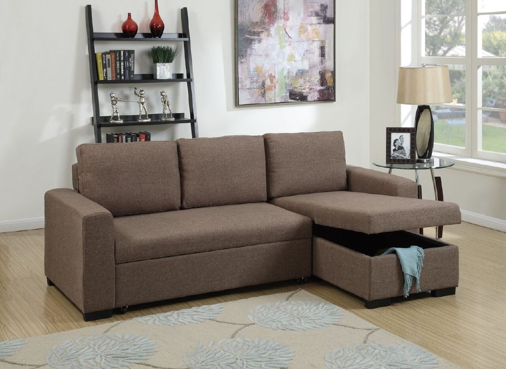 Sectional Sofa Chaise Pull Out Bed Storage Hot Sectionals