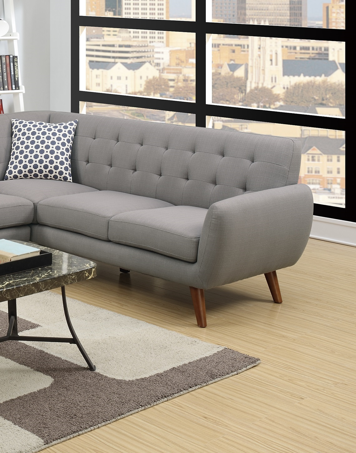Sectional Sofa Loveseat Wedge Linen Couch Hot Sectionals