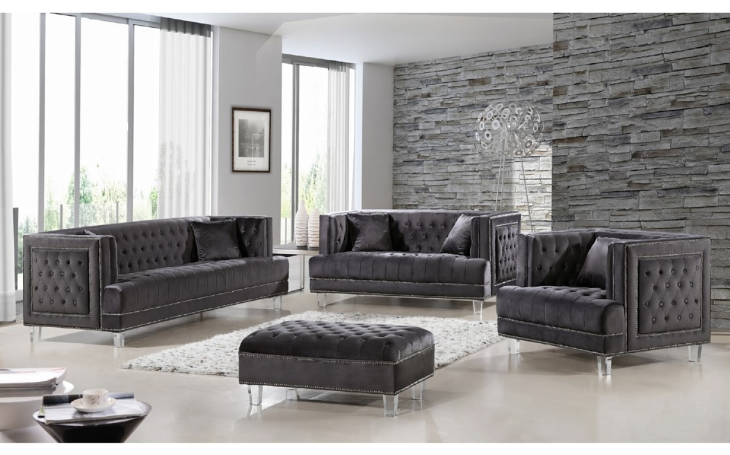 3pc Gray Sofa Set Living Room Furniture   Hot Sectionals