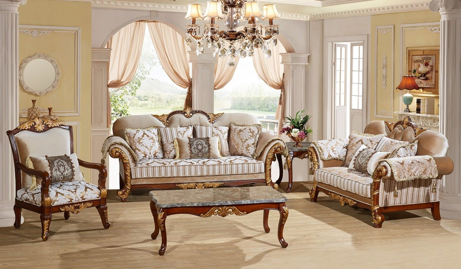 Traditional Sofa Living Room Furniture  651