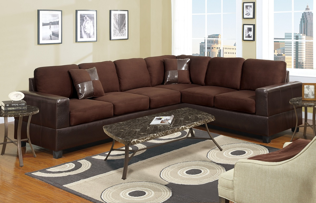 Sectional Poundex Sofa Living Room #F7631 | Hot Sectionals