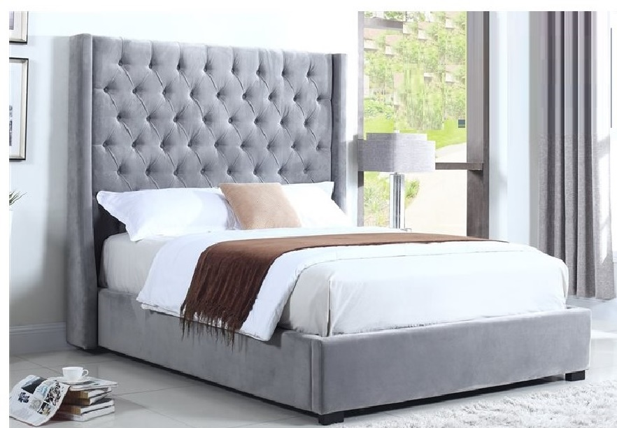 Contemporary Light Gray Queen Bedroom Bed | Hot Sectionals
