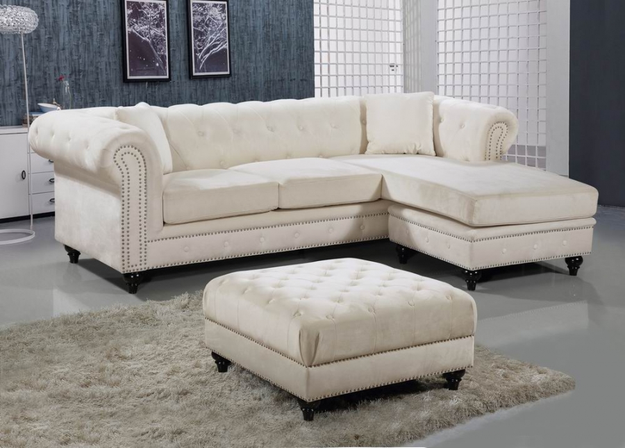 Cream 3pc Sectional Sofa Set Contemporary Hot Sectionals