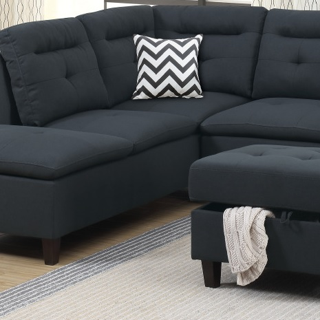 Black Sectional Sofa Couch F6588 Hot Sectionals