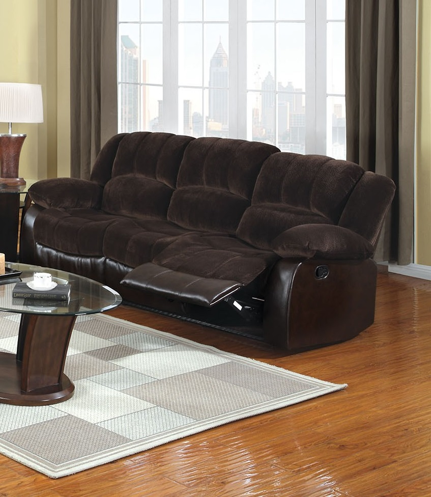 Brown Champion Fabric Leatherette Sofa Hot Sectionals